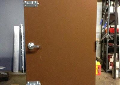 steel exit doors