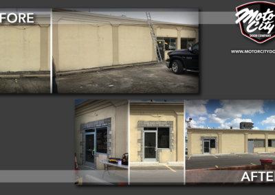 Royal Oak - New Doorway - Masonry - Glass Aluminum