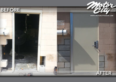 New Doorway - Pedestrian Door