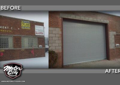 New Doorway - Front Rolling Steel