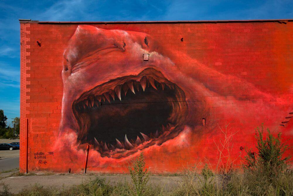 Red Shark Mural